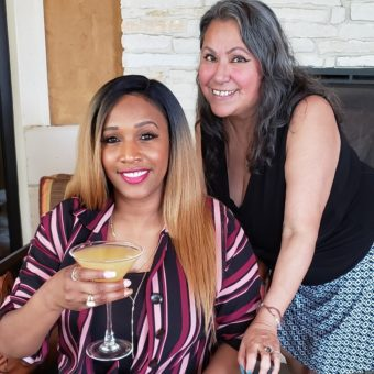 Lee Caldwell with Nicole Torres-Cooke VodkaGirlATX